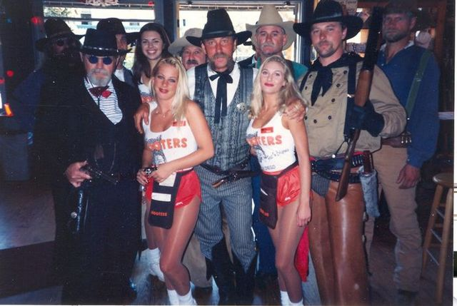 The Gang at the Hooters Hideout