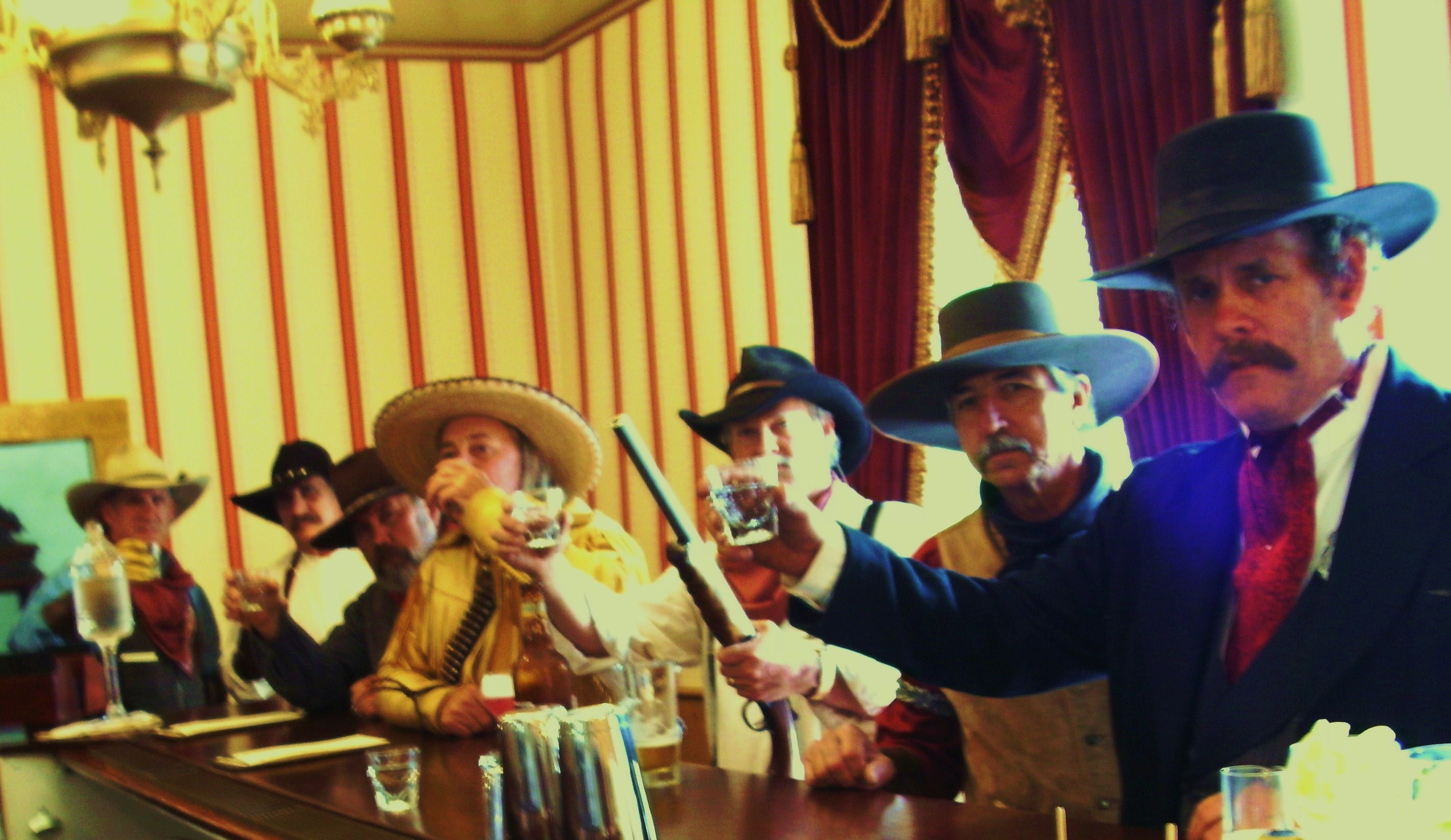 OUTLAWS IN SALOON